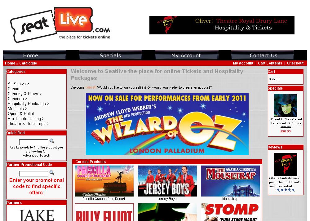 SeatLive ticket sales
